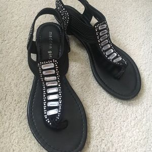 Madden girl black sandals with jewels